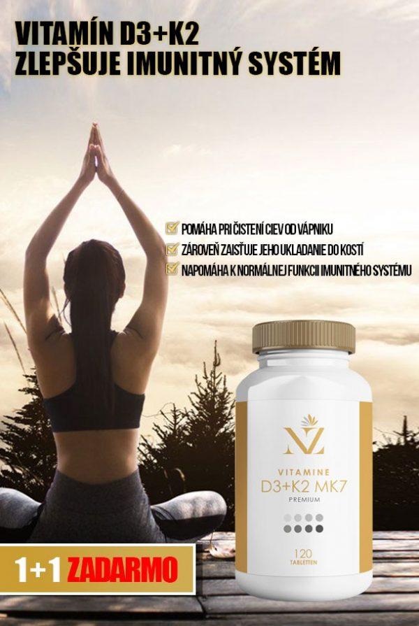 Vitamín d3+k2 kosti nakupujzdravo